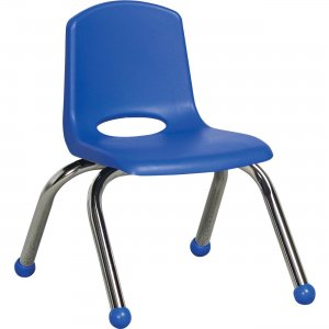 "ECR4KIDS 10"" Stack Chair, Chrome Legs ELR-0192-BL ECR0192BL"