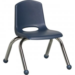 "ECR4KIDS 10"" Stack Chair, Chrome Legs ELR-0192-NV ECR0192NV"