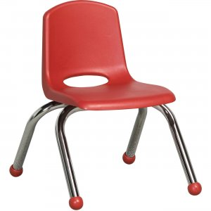 "ECR4KIDS 10"" Stack Chair, Chrome Legs ELR-0192-RD ECR0192RD"