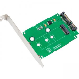 "IO Crest M.2 NGFF to 2.5"" SATAIII Card with Full & Low Profile Brackets SI-ADA40083"