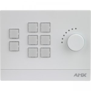 AMX 8-Button Massio Keypad with Knob (US, UK, EU) FG5793-08L-W MCP-108L-WH