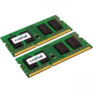 Crucial 4GB kit (2GBx2), 204-pin SODIMM, DDR3 PC3-12800 Memory Module CT2KIT25664BF160BJ