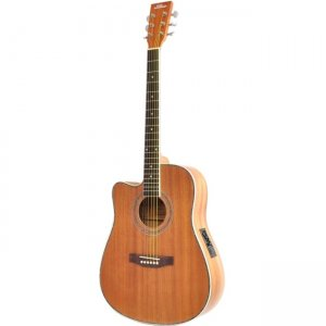 PylePro Acoustic Electric Guitar PGA53LBR