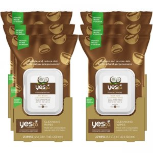 Yes To Coconut Facial Cleansing Wipes, 30 Count Pack of 6 5337101-6-KIT