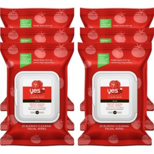 Yes To Tomatoes Blemish Clearing Facial Wipes, 25 Count Pack of 6 2331167-6-KIT