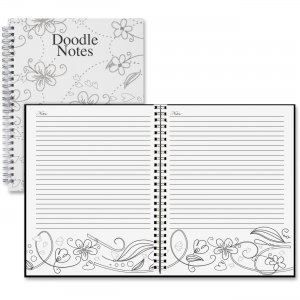 House of Doolittle Doodle Notes Spiral Notebook 78190 HOD78190