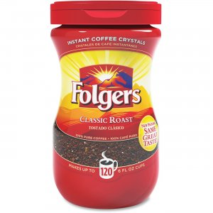 Folgers Classic Roast Instant Coffee Crystals 20629 FOL20629