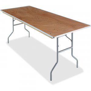 Iceberg Natural Plywood Rectangular Folding Table 56220 ICE56220