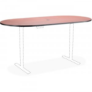 Safco Electric Table Cherry Lam. Racetrck Tabletop 2503EHATCY SAF2503EHATCY