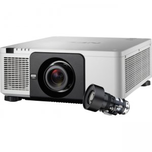NEC Display 10,000-lumen Professional Installation Laser Projector w/Lens NP-PX1004UL-W-18