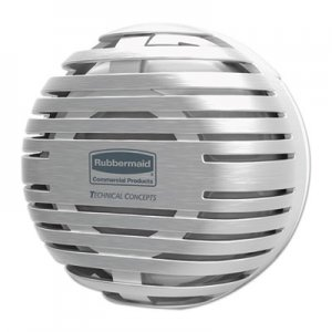 "Rubbermaid Commercial TCell Dispenser, 4.09"" Diameter x 2.36"", Brushed Chrome RCP1972664 1972664"