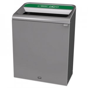 Rubbermaid Commercial Configure Indoor Recycling Waste Receptacle, 45 gal, Gray, Organic Waste RCP1961683 1961683