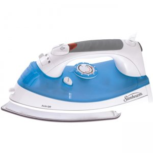 Sunbeam Simple Press Iron, White & Blue GCSBBV-212-00A