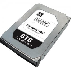 HGST Ultrastar He8 SAS 8TB HDD in Carrier, CRU, Single Pack 1EX0111