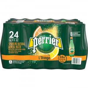 Perrier L'Orange Sparkling Mineral Water 074780446303 NLE074780446303