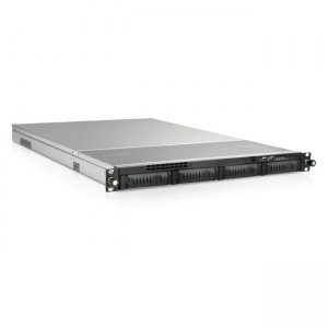 iStarUSA 1U 4-Bay Storage Server Rackmount Chassis with 500W Redundant Power Supply EX1M4-50R1UP8G
