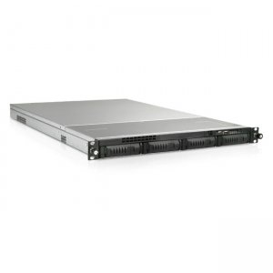 iStarUSA 1U 4-Bay Storage Server Rackmount Chassis with 650W Redundant Power Supply EX1M4-65R1UP8G