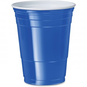 Solo Cup 16 oz. Plastic Cold Party Cups P16B SCCP16B