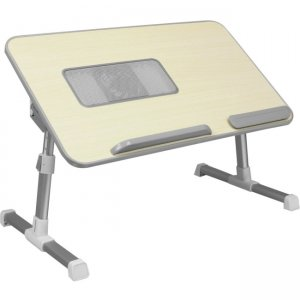 Aluratek Adjustable Ergonomic Laptop Cooling Table with Fan ACT01F