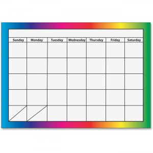 Ashley 1-month Dry Erase Magnetic Calendar 10096 ASH10096