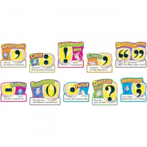 "TREND 12"" Punctuation Bulletin Board Set 811 TEP811"