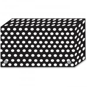 Ashley B/W Dots Design Index Card Holder 90351 ASH90351