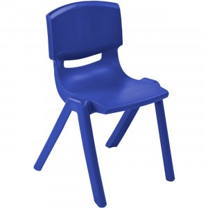 "ECR4KIDS 10"" Resin School Stack Chair ELR-15410-BL ECR15410BL"