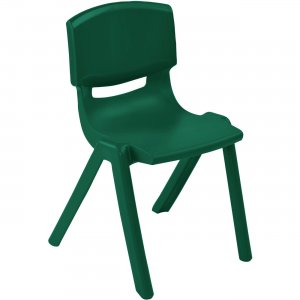 "ECR4KIDS 10"" Resin School Stack Chair ELR-15410-GN ECR15410GN"