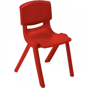 "ECR4KIDS 10"" Resin School Stack Chair ELR-15410-RD ECR15410RD"