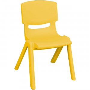 "ECR4KIDS 10"" Resin School Stack Chair ELR-15410-YE ECR15410YE"