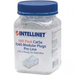 Intellinet 100-Pack Cat5e RJ45 Modular Plugs Pro Line 790512