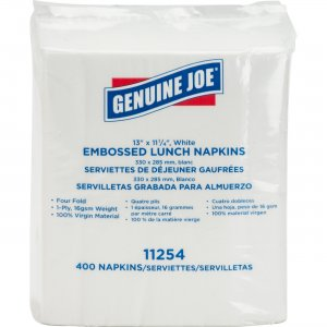 Genuine Joe 1-ply Embossed Lunch Napkins 11254PK GJO11254PK
