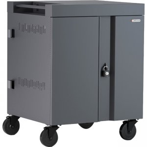 Bretford CUBE Cart AC for up to 32 Devices w/Back Panel, Charcoal Paint TVC32PAC-CKWL TVC32PAC-CK