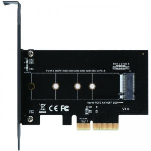 SIIG M.2 NGFF SSD PCIe Card Adapter SC-M20014-S1