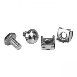 RMHW20-1N,Silver V7 Rack Mount 20 Pcs extra mounting hardware screws and nuts