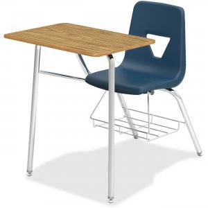 Lorell Rectangular Medium Oak Top Student Combo Desk 99914 LLR99914