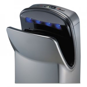 "WORLD DRYER VMax Hand Dryer, High Impact ABS, 26 1/4"" x 9 1/4"" x 16"", Silver WRLV639A V"