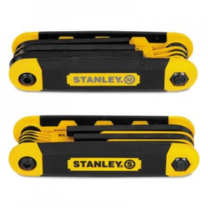 Stanley Folding Metric and SAE Hex Keys, 2/Pk BOSSTHT71839 STHT71839
