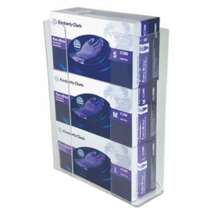 Unimed Wall-Mount Glove Box Holder, 3-Box, Acrylic, Clear, 11 x 3 1/2 x 14 1/2 UMICCG3061282