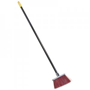 "Quickie Bulldozer Landscaper's Upright Broom, 48"" Handle, 4"" Bristles, Red/Gray QCK7573 757-3"