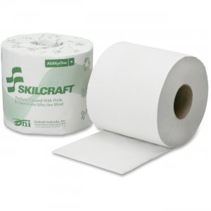 SKILCRAFT 1-Ply PCF Individual Toilet Tissue Rolls 8540016308728 NSN6308728