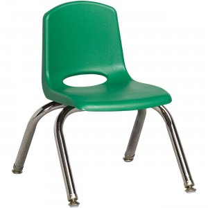 "Early Childhood Resources 10"" Stack Chair, Chrome Legs ELR-0192-GNG ECR0192GNG"