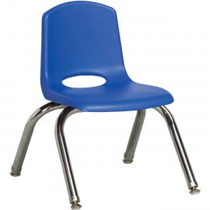 "Early Childhood Resources 10"" Stack Chair, Chrome Legs ELR-0192-BLG ECR0192BLG"