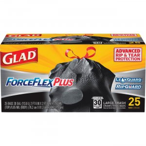 Glad Dual Defense Drawstring Large Trash Bags 70359 CLO70359