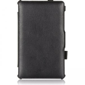 Amzer Shell Portfolio Case - Black Leather Texture for Samsung GALAXY Tab S 8.4 97197