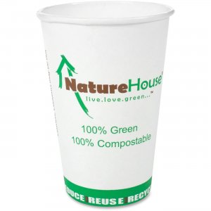 NatureHouse Savannah Supplies Compostable Paper/PLA Cup C008 SVAC008