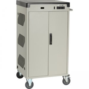 "Black Box Deluxe Cart - Standard Charging, 30-Device, 13""D Slot, Sliding Door, Keylock UCCSM-10-30T-R2"