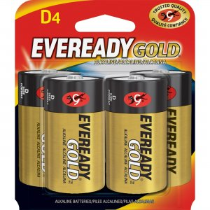 Energizer Gold Alkaline D Batteries A95BP4CT EVEA95BP4CT
