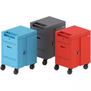 Bretford CUBE Cart Mini Charging Cart AC for 20 Devices, Red Paint TVCM20PAC-RED