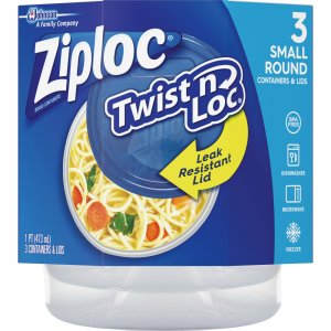 Ziploc Twist 'n Loc Small Containers Set 018036 SJN018036